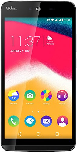 Wiko 9532 Rainbow Jam Smartphone (12,4 cm (5 Zoll) HD IPS-Bildschirm, 1,3 GHz Quad-Core Prozessor, 8GB interner Speicher, 1GB RAM, Android 5.1 Lollipop) weiß