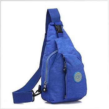 Egmy SHENGXILU Fashion Men Women s Chest Pack Outdoor Sports Casual Washed Cloth Backpack Large Shoulder Bag  Dark Blue