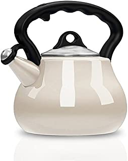 Tea Kettle 2-Quart Features A Cool-touch Handle in Pearl (1)