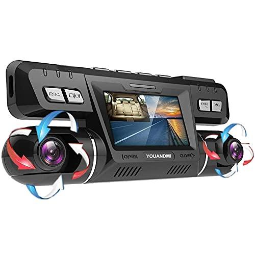YOUANDMI Dash Cam,2160P UHD GPS WiFi Anteriore e Posteriore Doppia 170 Gradi Grandangolare Telecamera Dashcam con Sony WDR Visione Notturna,ADAS,Monitor di Parcheggio per Monitoraggio Atti Vandalici