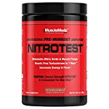 MuscleMeds Nitrotest Pre-Workout Supplement Drink, Boost Nitric Oxide, Testosterone, Watermelon, 30 Servings, 1.03 Pound, 1 Count