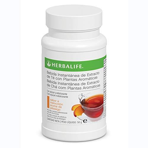 Bebida Instantánea a base de extracto de Té Herbalife con té negro, verde, flor de malva, flor de hibisco y semilla de cardamomo.… (Té Melocotón 50g)