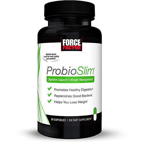Force Factor ProbioSlim Probiotics + Weight Loss Supplement, Burn Fat, Lose Weight, Reduce Gas, Bloating, Constipation, Digestive Health, 60 Count