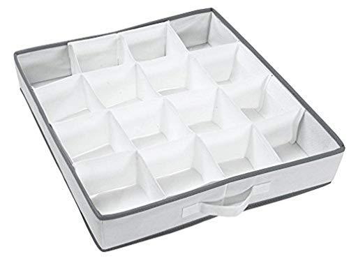 Compactor Organizador de cajón de 16 huecos, Tamaño 40 x 40 x 9 cm, Color blanco, RAN4402