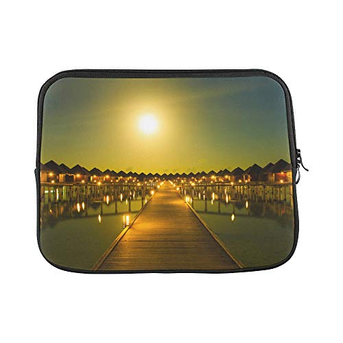 Unique Custom Amazing Panorama of Sunset Print Best Laptop Case Soft Computer Laptop Briefcase Briefcase Protective for MacBook Air 11""