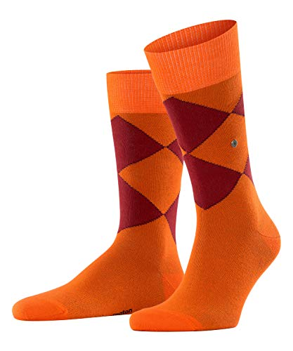 BURLINGTON Herren Argyle Organic M SO Socken, orange (flash orange 8034), 40-46 (UK 6.5-11 Ι US 7.5-12)
