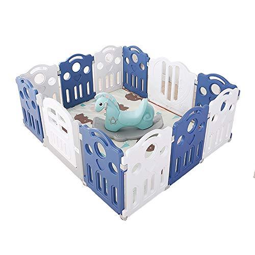 Childrens playpens 4.9x5.9x2.29ft / Dziecko Kociepen, Kids Safety Play Centrum Yard, Kryty Outdoor 12 Panel Play Yard Baby Fence Wszechstronne Play Space (Playpens + Crawling Mat + Bocking Horse)