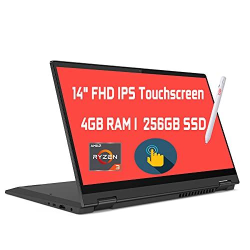 2021 Flagship Lenovo Flex 5 2 in 1 Convertible Laptop 14' FHD IPS Touchscreen AMD Quad-Core Ryzen 3 4300U (Beats i5-10210U) 4GB RAM 256GB SSD Wifi5 Dolby Webcam Win 10 + iCarp Pen
