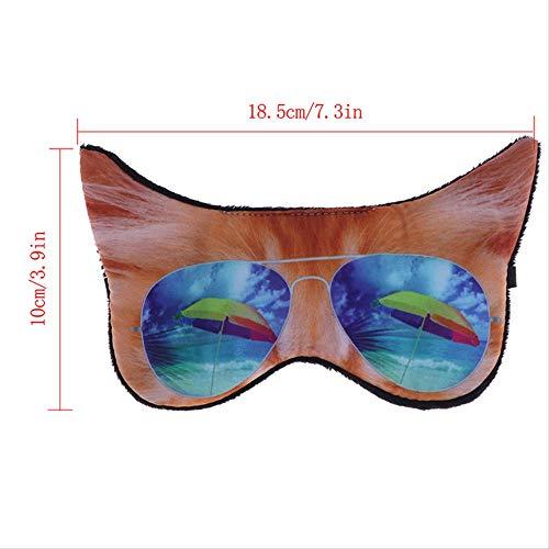 1 piezas de viaje parche para ojos gato perro máscara para dormir máscara para ojos cubierta de sombra de ojos sombra para dormir parche para ojos suave con los ojos vendados cubierta para ojos máscara para dormir