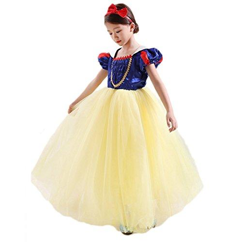 CQDY Vestido de Blancanieves, Disfraz de Princesa, Vestidos Elegantes, Disfraz de Hada, Disfraz de Cosplay, Vestido con Diadema