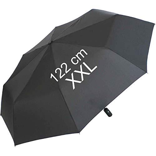 XXL Taschenschirm für Damen und Herren - Full Class- 122cm großes Dach mit Auf-Zu-Automatik - schwarz
