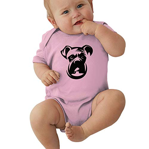 Boxer-Dog Baby Boys Pijama Unisex Romper Baby Girls Body Infant Kawaii Jumpsuit Outfit 0-2t Niños,Rosa,6 Meses