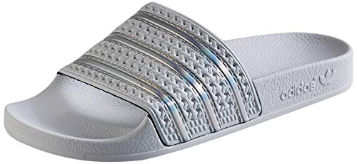 Adidas Adilette W, Scarpe da Ginnastica Donna, Crystal White/Ftwr White/Crystal White, 39 EU