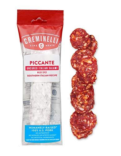 Creminelli Piccante Salami - Humanely-Raised U.S. Pork, Keto & Paleo Friendly, High Protien - Sugar Free, Gluten Free (Piccante, 5.5 oz)