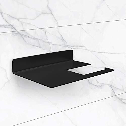 TradeNX - Porta Carta Igienica da Parete senza Foratura, Portarotolo Adesivo da Bagno per Carta Igienica, Design Moderno, Acciaio Inox, Colore Argento