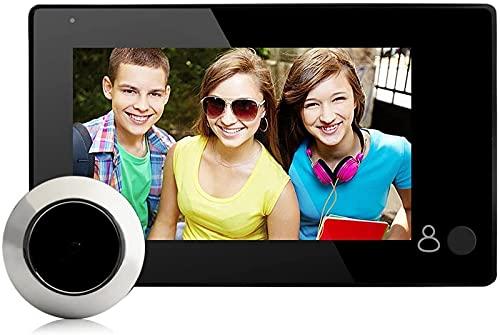 ZJDM Videoportero para Seguridad en el hogar Sistema de Timbre de Video Inteligente de 4.3 Pulgadas Timbre de Puerta Visor de Puerta Digital con 140 & deg;Fotografía de ángulo de visión horizont