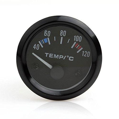 Instrumentos de coche, 12V, 5 cm,universal, puntero de temperatura del agua del coche, Medidor de temperatura de 40 a 120,LED blanco