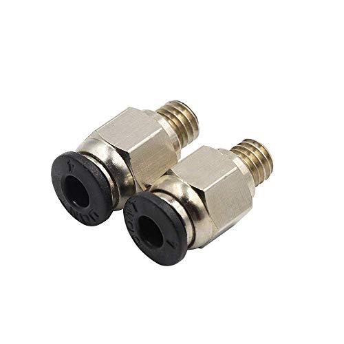 2 pz PC4-M6 Connettori pneumatici Raccordi aria diritti per tubo in teflon 4mm Hotend Estrusore Stampanti 3D Parti Quick M6 Joint Part