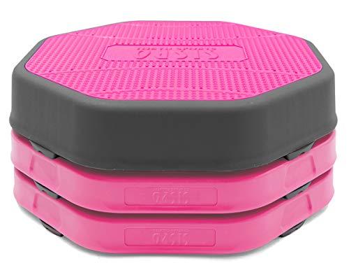 東急スポーツオアシス シングルステップ 高さ調節3段階 踏み台 昇降台 エクササイズ ステップ運動 コンパクト 滑り防止素材 ピンク