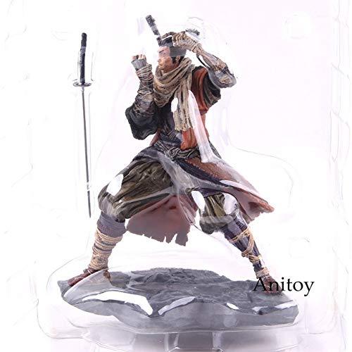 Yvonnezhang Spiel Shinobi Actionfigur Sekiro Shadows Die Twice Collector's Edition Shinobi Figur Statue Sammlerstück Modell Spielzeug, ohne Kleinkasten