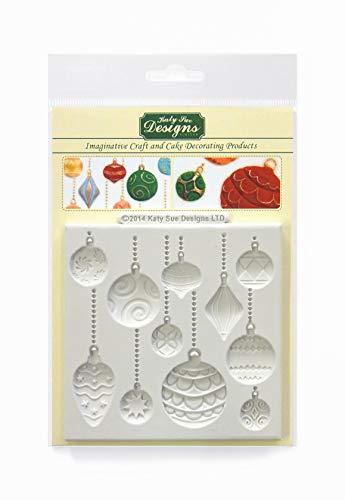 Moule en silicone de boules de Noël pour la décoration de gâteaux, l'artisanat, des petits gâteaux, Sugarcraft, des biscuits, des bonbons, des cartes et de l'argile, approuvé pour la sécurité alimentaire, fabriqué au Royaume-Uni
