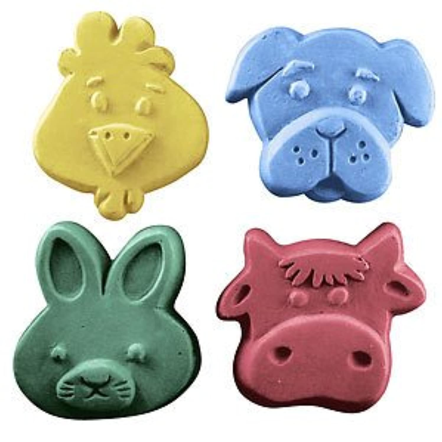 Milky Way Kids Critters 3 Soap Mold Tray - Melt and Pour - Cold Process - Clear PVC - Not Silicone - MW 111