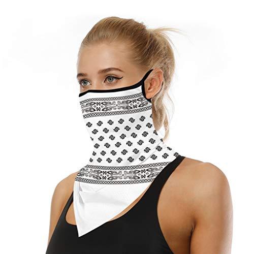 riou Face Shield Multifunktionstuch Motorrad Mundschutz Halstuch Bandana Schlauchschal für Damen Herren (U)