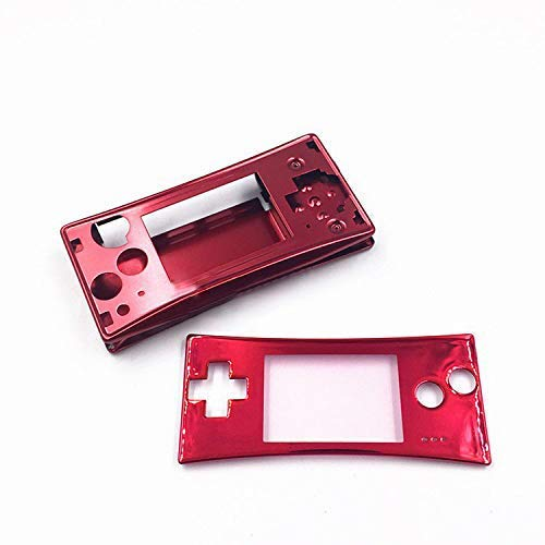 Faceplate Cover Replacement Front Shell Housing Case for Nintendo Game Boy Micro GBM (Red)