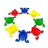 TOYMYTOY Figura Rana Juguete Plástico para Niños 24 Piezas (Color al Azar)
