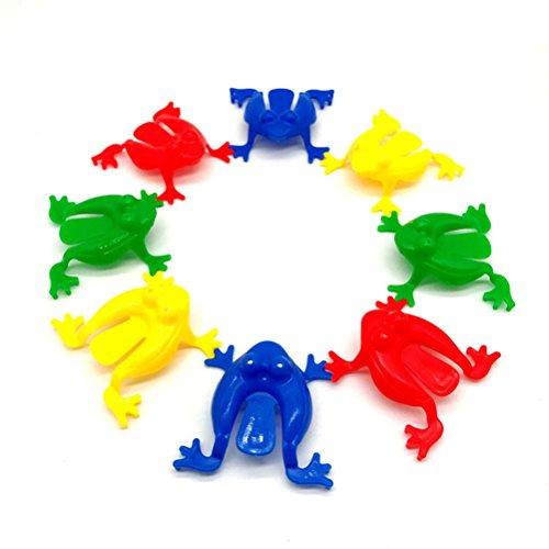 TOYMYTOY Giocattoli Rana saltare colorati per regalo da gioco di bambini 24PCS