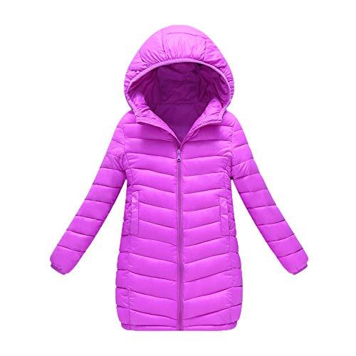 Manteaux bébé, YUYOUG Blouson Manteau Léger Enfant Garçon Fille Doudoune à Capuche Coupe-Vent Veste À Manches Longues pour Bébé (6-7 Ans, Purple)