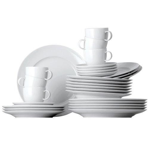 Thomas Sunny Day - Vajilla de Porcelana de 30 Piezas, Color Blanco