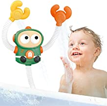 HANMUN Baby Bath Toy 2 Shower Head Bathtub Toy for Toddlers Electric Robot Water Pump for Kids Infants Girls Boys 6 Months Up