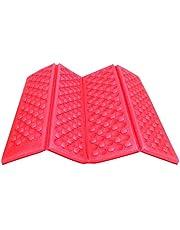 AceCamp Opvouwbaar XPE zitkussen voor buiten, lichtgewicht thermokussen met transporttas, waterdicht en isolerend, rood en groen
