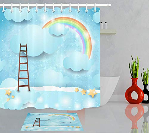 NNAYD1996 Cartoon Rainbow Cloud Ladder