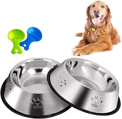 Legendog Ciotola per Cani di Grandi Dimensioni, 2 Ciotole per Cani in Acciaio Inossidabile/Ciotole per Cani/Ciotola per Zampe per Cani di Taglia Media