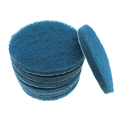 LJGFH Woodworking tools Blue Color 4-inch Power Scrub Pads for Drill Polish Scouring Pad Hook & Loop Car Cleaning Easy to use (Color : 5pcs)