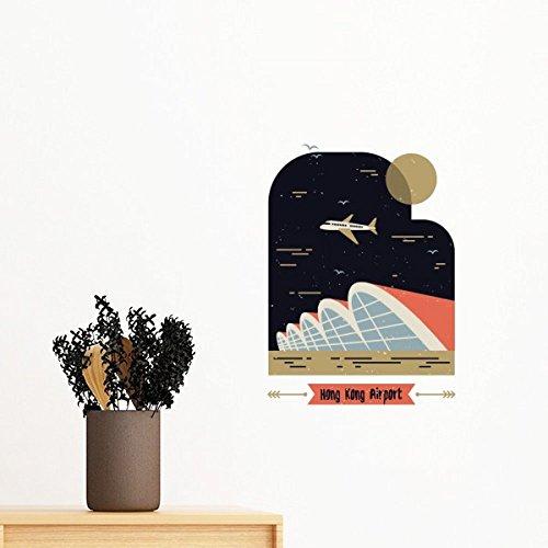 DIYthinker Hong Kong Aéroport International Amovible Wall Sticker Art Mural Stickers DIY Papier Peint Chambre Decal 40cm