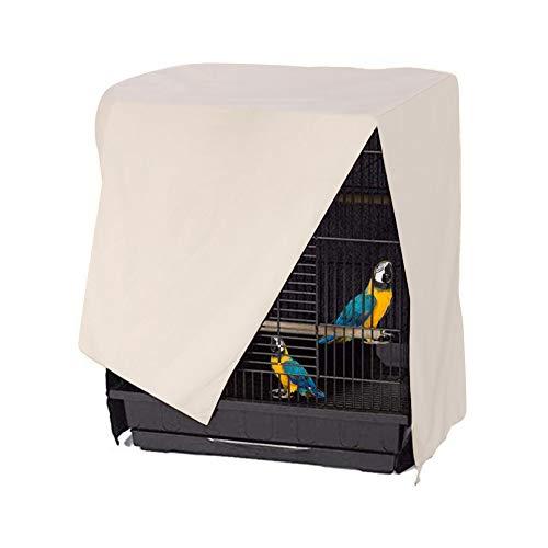 Minjie Cubierta para Jaula de pájaros, Jaula de Loro, Tela Transpirable Pesada, tamaño Universal 50,8 x 50,8 x 76,2 cm