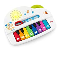 A musical toy with four ways to play piano notes, duck sounds, cow sounds and learning songs and phrases; ideal toy for toddlers age 36 months and upwards Kids can easily press the eight numbered keys to activate lights, songs and toy music sounds M...