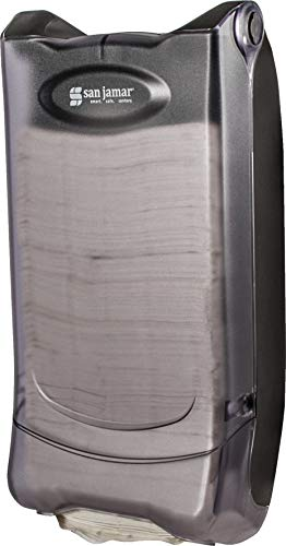 "San Jamar H5000P Venue Wall Mount Minifold Control Napkin Dispenser, 600 Capacity, 8"" Width x 15-3/4"" Height x 5-9/10"" Depth, Clear"