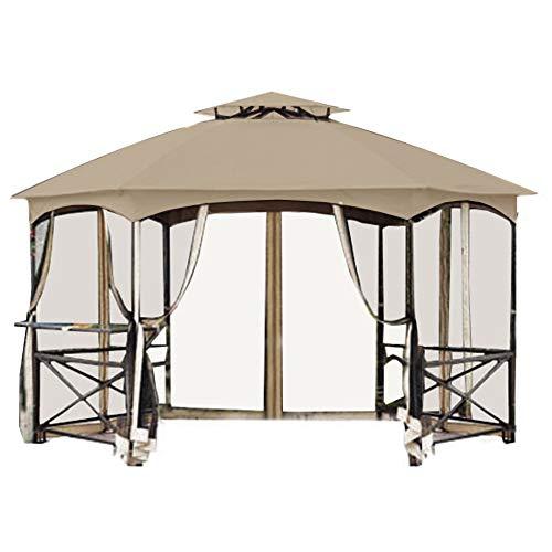 Garden Winds Replacement Canopy for The Crossman Hexagon Gazebo - Standard 350 - Beige