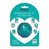 Rosewood 43109 Interaktives Spielzeug mit Leckerli-Spender für kleine Hunde/Welpen, Durchmesser 7cm, blau