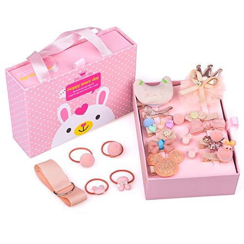 DIMU Geburtstagsgeschenk für 4-6 Jahre Alte Mädchen Kinder, Haarspangen Haarnadeln Set Spielzeug für 3-5 Jahre alte Mädchen Schöne Haarschmuck für 3-6 Jahre alte Mädchen Enkelinnen