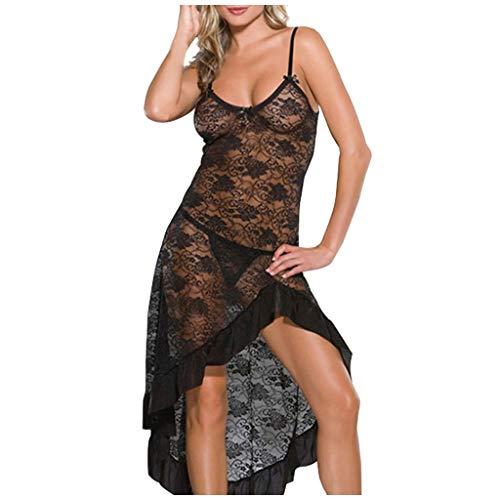 TwoCC Dessous,Hemd Sexy Frau Valentinstag Transparente Spitze Sexy Strapsrock Dessous Nachtwäsche Unterwäsche Set Sexy Erotische Kleider Tanga Set Mädchen