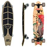 Easy People Longboards Pintail/Fishtail Longboard Complete FT-1 (Hawaiian Girl Complete)
