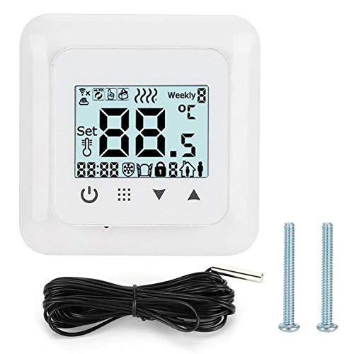 03 Termostato Digital de Material ABS, Controlador de Temperatura, Sistemas de calefacción eléctrica de Uso doméstico para calefacción por Suelo Radiante(Ordinary Paragraph, Transl)