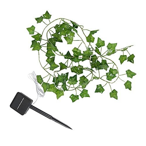 OSALADI Ivy Garland Fake Vines with Lights LED Curtain String Artificial Ivy Garland with Lights Garland String Lights Fall Lighted Garland Thanksgiving Decoration Green