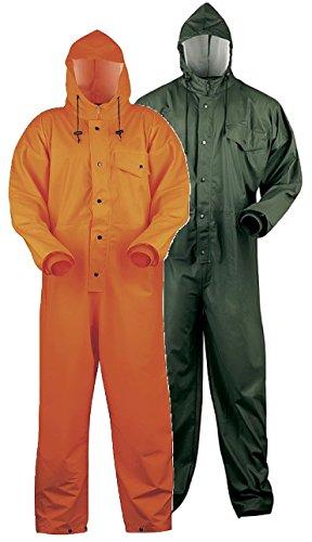 Schutz-Overall PU auf Polyester Trägergewebe - 150 g/m² - Oliv - Größe: L