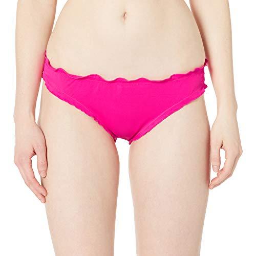 Smart & Sexy Women's Swim Secret Ruffled and Ruched Back Bikini Bottom, Fuchsia Sizzle, Large